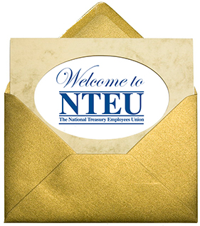 Envelope stating Welcome to NTEU